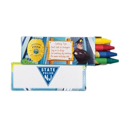 Police Safety Tips Crayons 4 Pack | Care Promotions