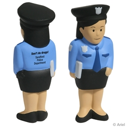 Police Woman Stress Reliever | Care Promotions
