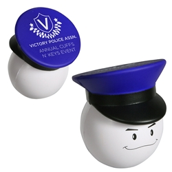 Policeman Smiley Face Stress Reliever | Care Promotions