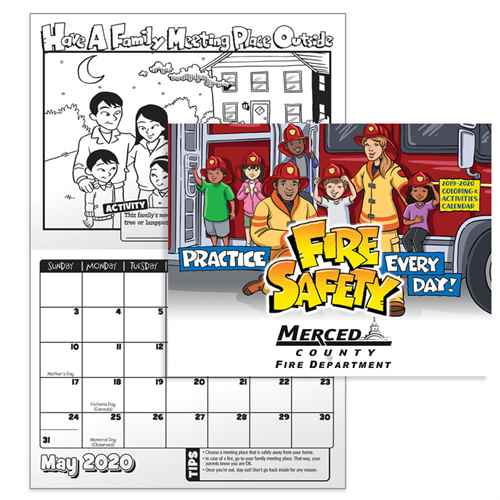 Practice Fire Safety Coloring & Activities 2019-2020 Calendar | Care Promotions