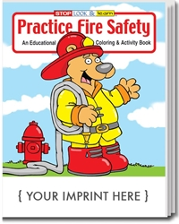 Practice Fire Safety Coloring & Activity Book | Care Promotions