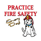 Practice Fire Safety Every Day! Dalmatian Temporary Tattoo fire safety promotional items, fire safety, kids fire safety, fire prevention, fire prevention week, Dalmatian, temporary tattoo, fire station giveaway