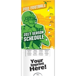 2017 Pro Football Schedule Pocket Slider | Care Promotions