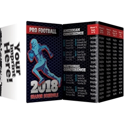 Pro Football: 2018 Season Schedule Key Points Pro Football 2018 Season Schedule Key Points, Pro Football, 2018, Football, Season, Schedule, Pocket Pal, Record, Keeper, Key, Points, Imprinted, Personalized, Promotional, with name on it, giveaway, BetterLifeLine, BetterLife, Education, Educational, information, Informational, Wellness, Guide, Brochure, Paper, Low-cost, Low-Price, Cheap, Instruction, Instructional, Booklet, Small, Reference, Interactive, Learn, Learning, Read, Reading, Health, Well-Being, Living, Awareness, KeyPoint, Wallet, Credit card, Card, Mini, Foldable, Accordion, Compact, Pocket, Sports, Schedule, NFL, Football, ESPN, Superbowl