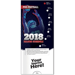 Pro Football: 2018 Season Schedule Pocket Slider BetterLifeLine, BetterLife, Education, Educational, information, Informational, Wellness, Guide, Brochure, Paper, Low-cost, Low-Price, Cheap, Instruction, Instructional, Booklet, Small, Reference, Interactive, Learn, Learning, Read, Reading, Health, Well-Being, Living, Awareness, PocketSlider, Slide, Chart, Dial, Bullet Point, Wheel, Pull-Down, SlideGuide, Sports, Schedule, NFL, Football, ESPN, Superbowl. The Positive Line, Positive Promotions, NFL Schedule