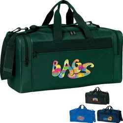 Promotional Travel Bag Deluxe, Sport, Duffle, Promotional, Imprinted, Polyester, Travel, Custom, Personalized, Bag