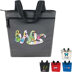 Promotional Zip Tote Zip, Convention, Promotional, Tote, Polyester, Meeting, Promotional Events, Trade Show, Health Fair, Imprinted, Reusable