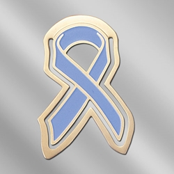 Prostate Cancer Awareness Ribbon Metal Bookmark prostate cancer awareness merchandise, prostate cancer gifts, prostate cancer promotional items, prostate cancer awareness giveaways, run and walk gifts