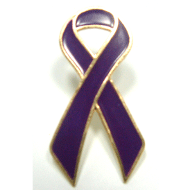 Purple Ribbon Lapel Pin | Alzheimers Disease Awareness Giveaways | Care Promotions