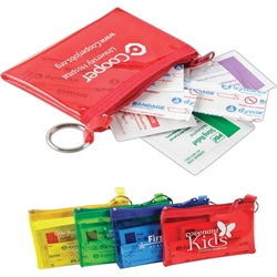 Rainbow Colors First Aid Kit Rainbow Colors First Aid Kit, First Aid, Kit, Rainbow, Colors, Pouch, Purse, Imprinted, Personalized, Promotional, with name on it, giveaway