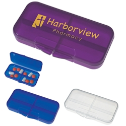 Rectangular Shape Pill Holder Rectangular Shape Pill Holder, Rectangular, shape, Pill, Holder, Box, Translucent, Imprinted, Personalized, Promotional, with name on it, giveaway,