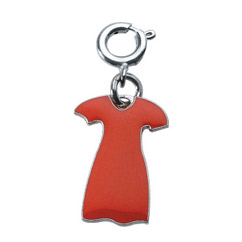 Red Dress Die Struck Enamel Charm Red Dress, Stainless, Steel, Mini, Charm, Die Struck, Enamel, Go Red, Womens Heart Health, American, Heart,
