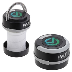 Revere Collapsible Lantern + Wireless Speaker custom speaker with light, Lantern Light and Speaker, Light and wireless speaker, bluetooth portable speaker light, employee appreciation gifts, business gifts, corporate holiday gifts, promotional speaker giveaways