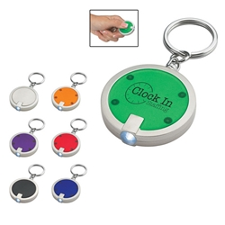 Round LED Key Chain Round LED Key Chain, Round, LED, Light, Key, Chain, Round, Tag, Ring, Imprinted, Personalized, Promotional, with name on it, giveaway,