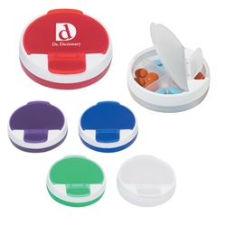 Round Pill Holder Round Pill Holder, Round, Pill, Holder, Imprinted, Personalized, Promotional, with name on it, giveaway,
