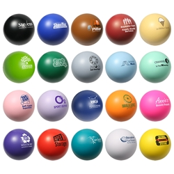 Custom Logo Round Stress Ball | Care Promotions
