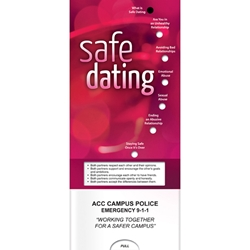 Safe Dating Pocket Slider Women safety, slide, sliding, chart, sial, guide, reference, slideguide, betterlifeline, better life, Positive Promotions, The Positive Line