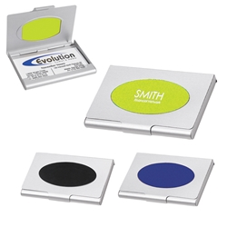 Saturn Business Card Holder Saturn Business Card Holder, Business, Card, Holder, Case, Imprinted, Personalized, Promotional, with name on it, giveaway,