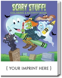 Scary Stuff! Coloring & Activity Book | Care Promotions