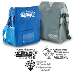 Scrubs Cooler Bag Scrubs Lunch Cooler, Scrubs Lunch Bag, Lunch Cooler, Lunch Bag, Nurses Scrubs, Cooler, Waterbottle pocket Lunch Bag, PVC, Promotional, Imprinted, with name on it, with logo,