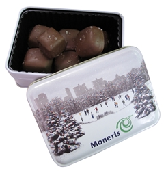 Sea Salt Caramels Keepsake Gift Tin holiday gifts, holiday food gifts, corporate holiday gifts, gift sets, chocolate gifts, employee appreciation, employee recognition, holiday parties
