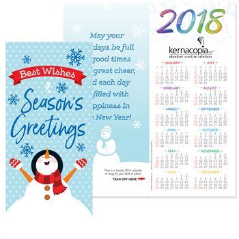 Seasons greetings 2018 holiday greeting card calendar m4hsunfo