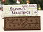 """Season's Greetings"" Chocolate Bar Employee Appreciation, Employee Recognition, Holiday Gifts, Business Gifts, Corporate Gifts, Holiday Parties, chocolate,"