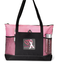 Select Zippered Tote Trade Show Tote, Convention Bag, tote with Water Bottle Holder, Pocket, Basic, Low Price, Promotional, Imprinted, with name on it, logo, custom bag