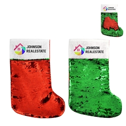 Sequin Holiday Stocking | Christmas Promotional Items | Care Promotions