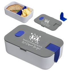 """Service is Everything We Do & We Depend On You"" Big Munch Lunch Box Customer Service, Environmental Services, Theme, promotional lunch box, custom logo lunch box, promotional lunch container, promotional bento box, custom printed salad container, custom lunch box gift"