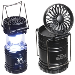 """Service is Everything We Do & We Depend On You"" Retro Desk Lantern With Fan   Customer Service, Theme, Appreciation, Recognition, Retro Light, Lantern, Desk Fan, Fan and light, Light Fan, Desk, Fan, Lantern, Light, Imprinted, Personalized, With Logo, Mini, Pop up,"