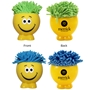 Shaggy Microfiber Screen Cleanin Dude Mop Head Stress Ball, Screen Cleaner Stress Ball, Microfiber Stress Ball, Smiley Stress Ball,  with imprint, customized, imprint, with name on it,