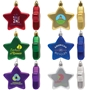 Custom Shatter Resistant Flat Star Ornament | Care Promotions