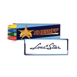Sheriff Crayons 4 Pack | Care Promotions