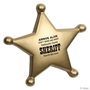 Sheriff's Badge Stress Reliever sheriff promotional items, law enforcement promotional items, police promotional item, crime prevention promotional items, crime prevention month giveaways, police car promotional items, sheriff badge stress reliever, sheriff's office giveaways
