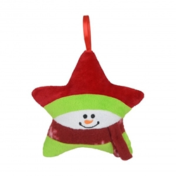 Snowman Star Plush Holiday Ornament | Care Promotions