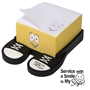 """Service with A Smile is My Style"" Emoti Theme Sticky Memo Pad  Customer Service Theme, Emoti Sticky Pad, Emoti desk products, Emoti Note Pads, Emoti Post it Holders"