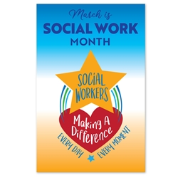 "Social Work Month Appreciation Posters Theme 11 x 17"" Posters (Sold in Packs of 10)    Social Worker, Month, Social Work Month Poster, Social Worker Appreciation Posters, Social Worker, Appreciation, Theme, Posters, Poster, Celebration Poster, Appreciation Day, Recognition Theme Poster,"