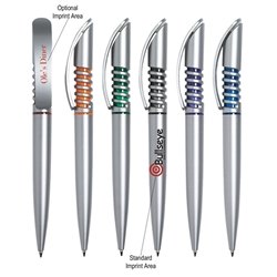 Spiral Pen Spiral Pen, Pens, spiral, Ballpoint, Plastic, Imprinted, Personalized, Promotional, with name on it, giveaway, black ink