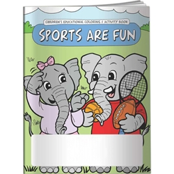 Sports are Fun Coloring Book Sports are Fun Coloring Book, BetterLifeLine, BetterLife, Education, Educational, information, Informational, Wellness, Guide, Brochure, Paper, Low-cost, Low-Price, Cheap, Instruction, Instructional, Booklet, Small, Reference, Interactive, Learn, Learning, Read, Reading, Health, Well-Being, Living, Awareness, ColoringBook, ActivityBook, Activity, Crayon, Maze, Word, Search, Scramble, Entertain, Educate, Activities, Schools, Lessons, Kid, Child, Children, Story, Storyline, Stories, Imprinted, Personalized, Promotional, with name on it, Giveaway,