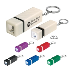Square LED Key Chain Square LED Key Chain, Square, LED, Key, Chain, Ring, Tag, Imprinted, Personalized, Promotional, with name on it, giveaway,
