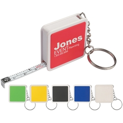 Square Tape Measure Key Tag Square Tape Measure Key Tag, Square, Tape, Measure, Key, Tag, Ring, Chain, Imprinted, Personalized, Promotional, with name on it, giveaway,