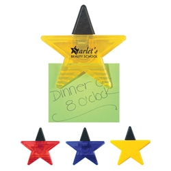 Star Shape Clip Star Shape Clip, Star, Shape, Clip, Imprinted, Personalized, Promotional, with name on it, giveaway,