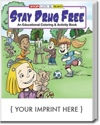 Stay Drug Free Coloring & Activity Book promotional coloring book, anti-drug promotion, drug prevention, drug free, drug free schools, red ribbon week, drug prevention promotional items