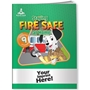 Staying Fire Safe at Home Activity Book with Fun Stickers fire prevention, fire safety, safety promotional items, kids fire safety, dalmatian, fire prevention week, stickers