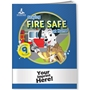 Staying Fire Safe at Home Activity Book with Temporary Tattoos fire prevention, fire safety, safety promotional items, kids fire safety, dalmatian, fire prevention week, temporary tattoos