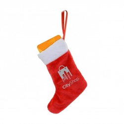Custom Stocking Plush Holiday Ornament | Care Promotions