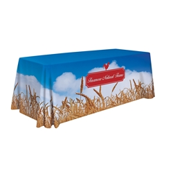 Full Color Sublimated Standard Table Throw | Trade Show Displays | Care Promotions
