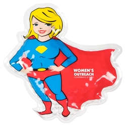 Super Heroes Hot & Cold Packs  Super Hero, Hold Cold Packs, Super Girl, Superman, Super Man, Halloween promotional items, promotional hot cold packs, Halloween giveaways, custom logo hot cold packs, healthcare promotional items, first aid promotional items, kids safety giveaways