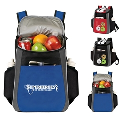 """Superheroes of Healthcare!"" Prime 18 Cans Cooler Backpack    Healthcare appreciation Week theme, Backpack cooler, Can Cooler, 18 Can Backpack cooler, 18 pack cooler, Imprinted, With Logo, With Name On It"